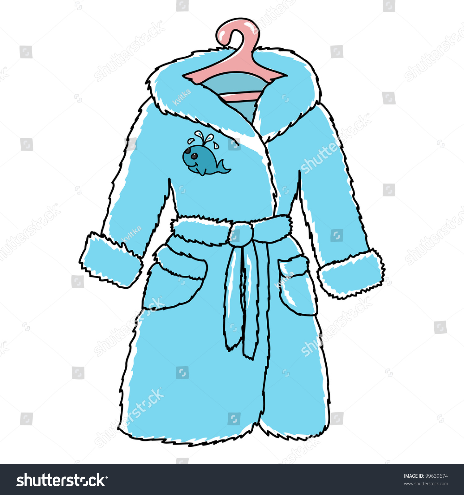 Cartoon childish bathrobe cute whale stock vector 99639674
