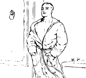 Outline Man In Robe Clip Art