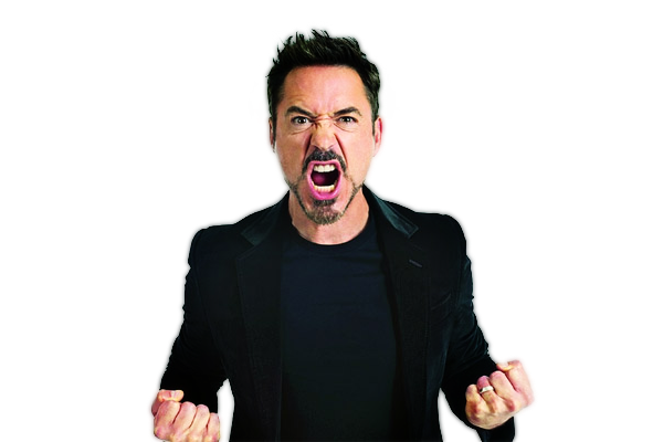 Robert Downey Jr PNG Transparent Image