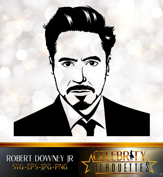 Robert Downey Jr. Silhouette, artist silhouettes, celebrity silhouette,  famous people