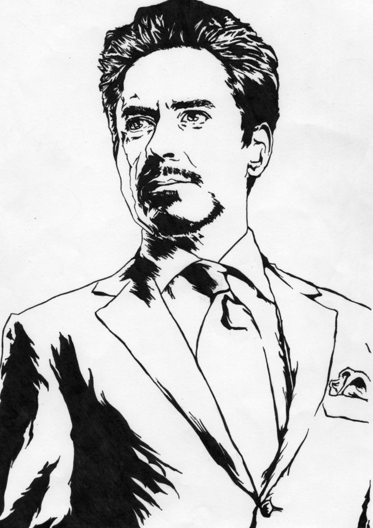 Tony Stark - Iron Man (Robert - Robert Downey Jr Clipart
