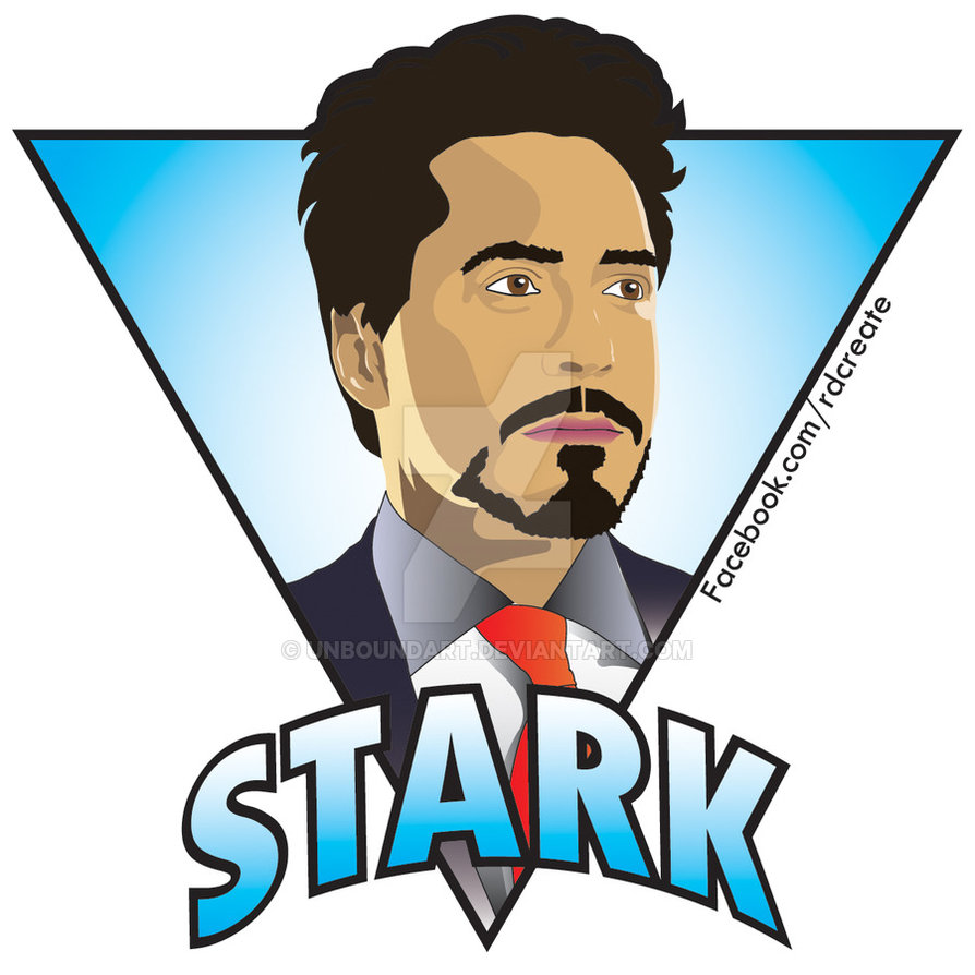 Tony Stark/Robert Downey Jr Sticker by UnboundArt hdclipartall.com