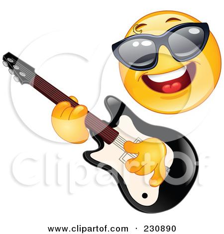 rock guitar star clipart