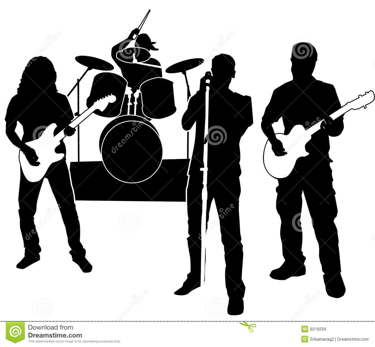 Rock Band Clipart Black And White Images Pictures Becuo