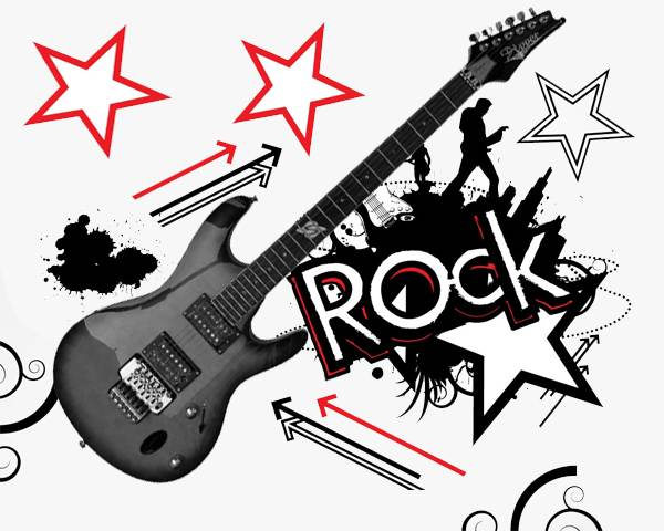 Rock Star Clip Art Rock Star Party Printable Rock Star Guitar Instant