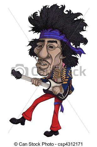 ... Rock Star - Hand drawn illustration of a rock star Rock Star Clipartby ...