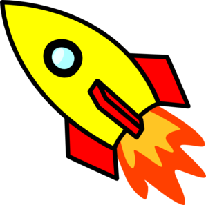 rocket clipart black and white
