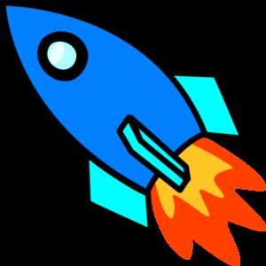 Blue Rocket Clip Art