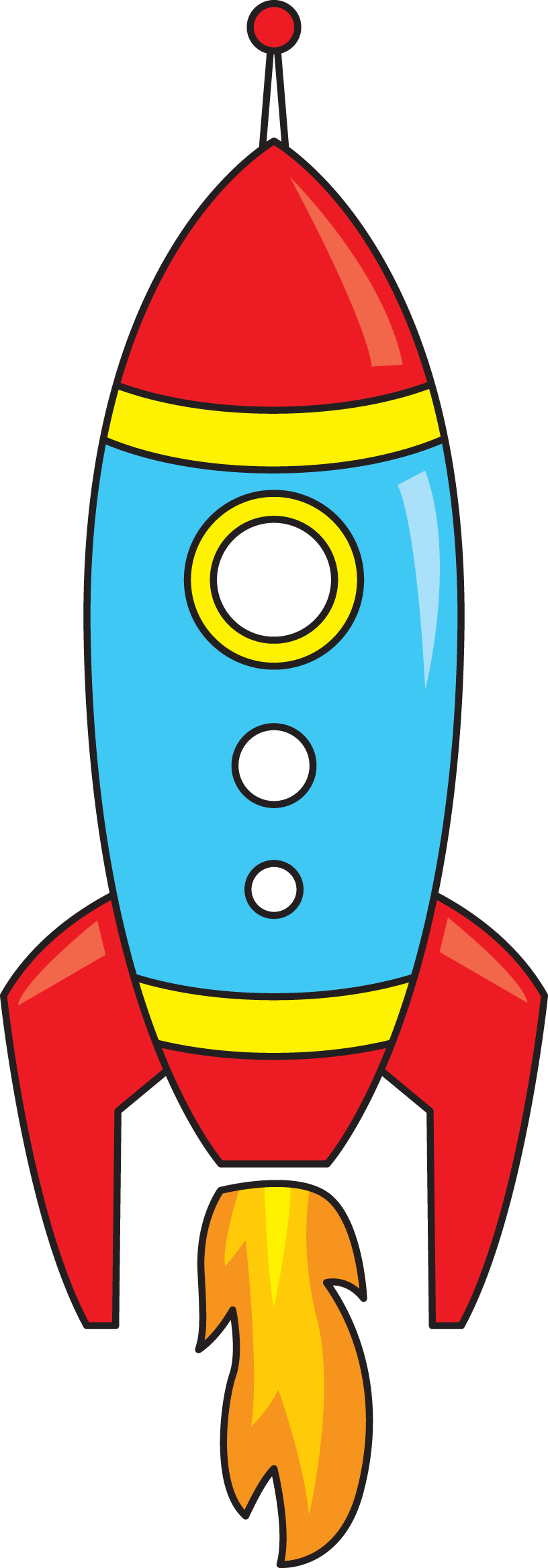 Images For Clipart Rocket