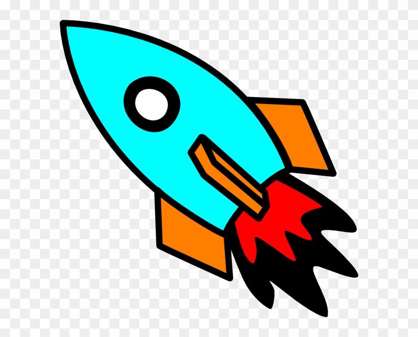 Rocketship Clip Art Image - Animated Rocket