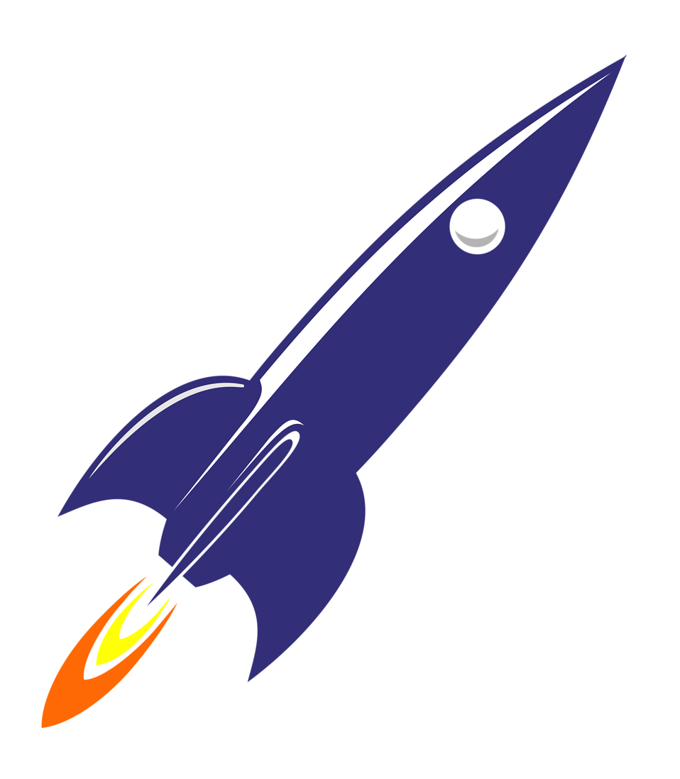 Rocket Free Stock Photo Illustration Of A Blue Rocket 16612