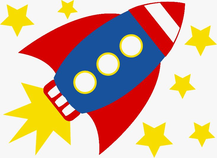 Rocket ship blast off clipart .