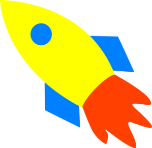 ... rocket ship yellow clip art ...