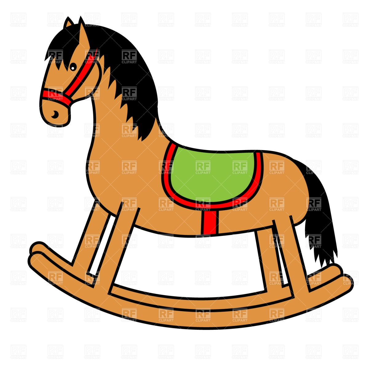 Rocking Horse 1328 Plants And Animals Download Royalty Free Vector