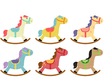 Rocking Horse Clipart Free .