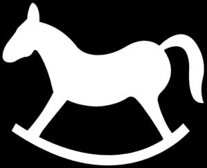 Rocking Horse Outline Clip Art