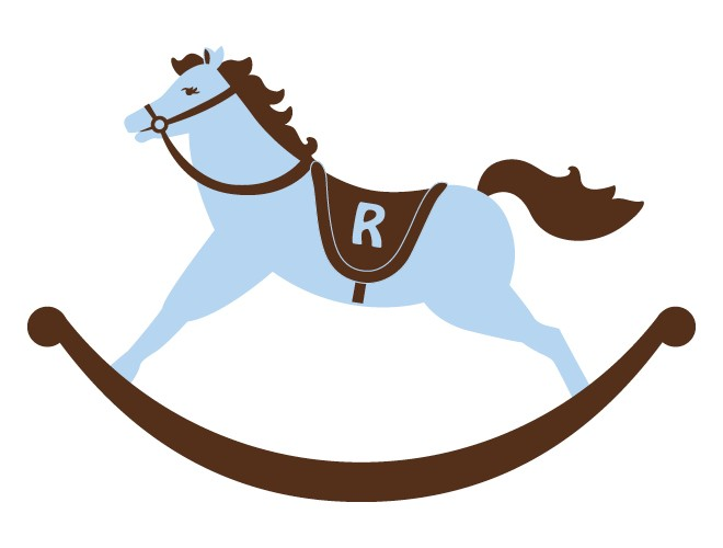 Rocking Horse Wall Decal For A Boy S Room Weedecor Clipart