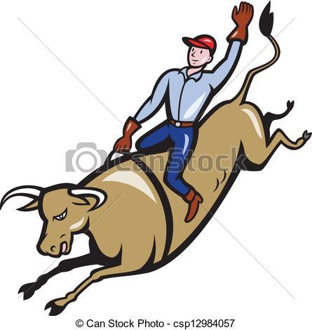 ... rodeo cowboy bull riding