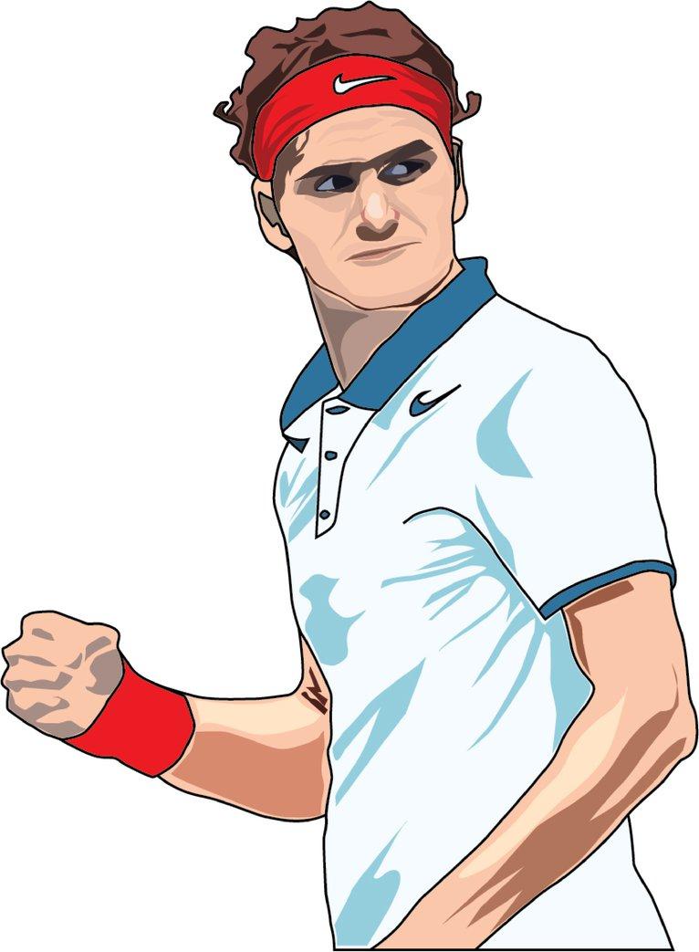 Roger Federer by NatDim ClipartLook.com