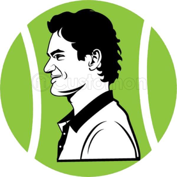 Roger Federer In Tennis Ball Menu0027s T-shirt