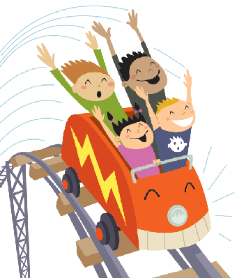 Roller coaster 2 clipart the .