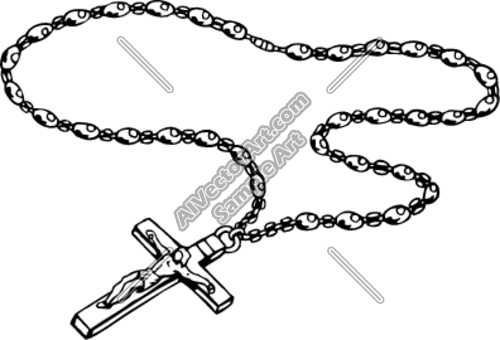 Clipart/Vector Art of: ROSARY