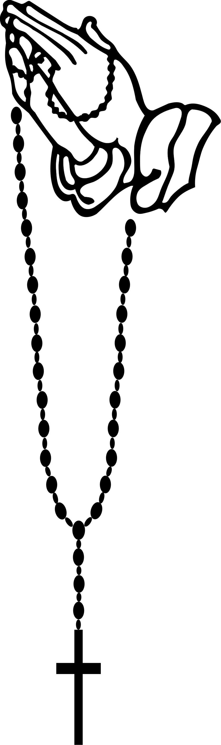 Free prayer clipart praying hands rosary cdr
