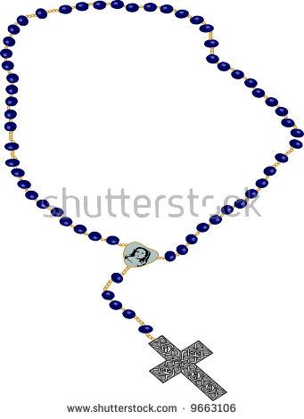 rosary clip-art illustration on white background.