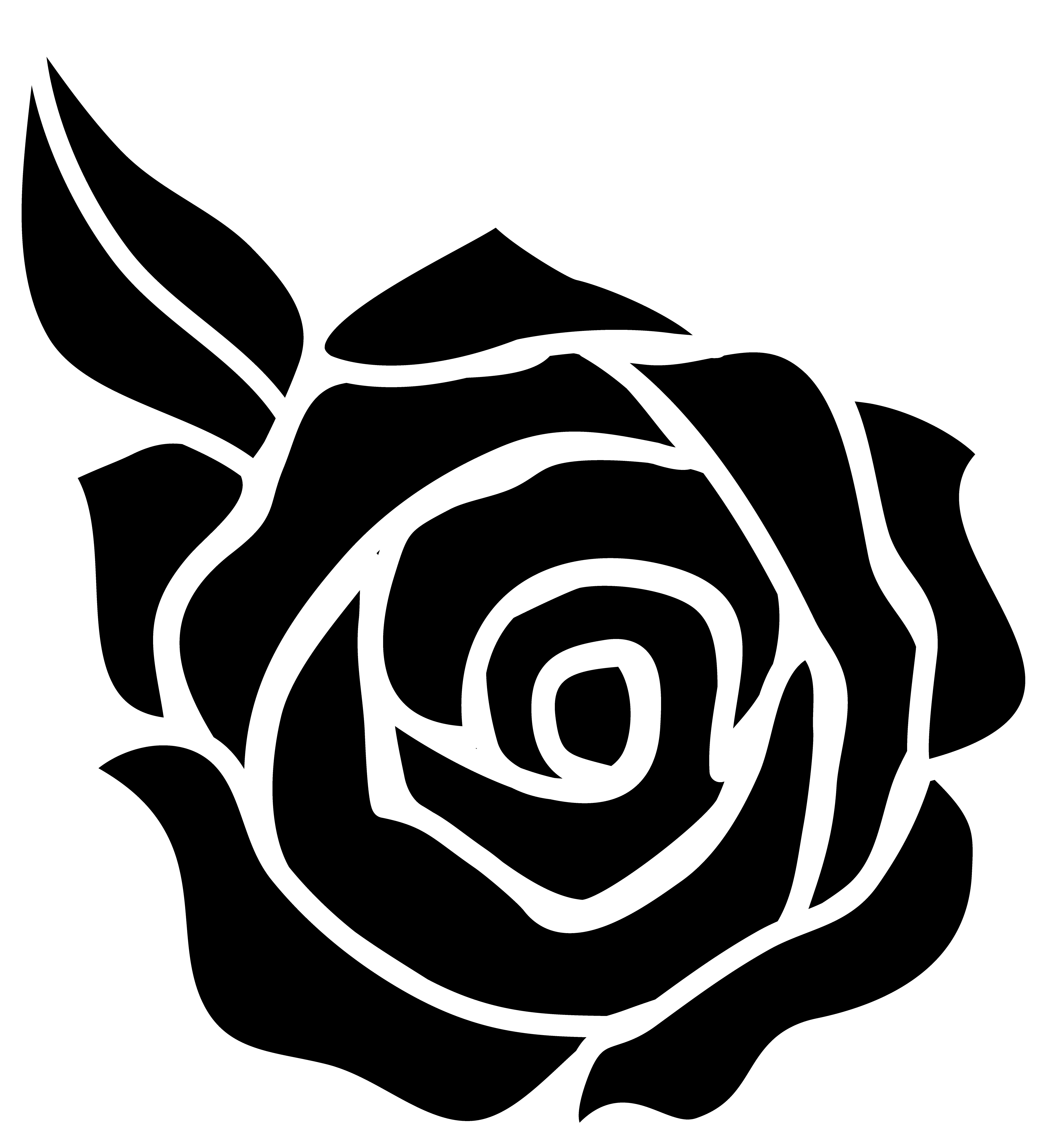 Rose black and white black and white images of roses clipart