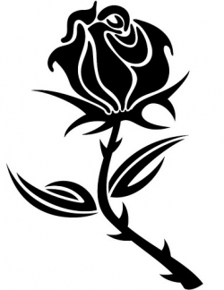 ... Rose Clip Art Black And White - Free Clipart Images ...