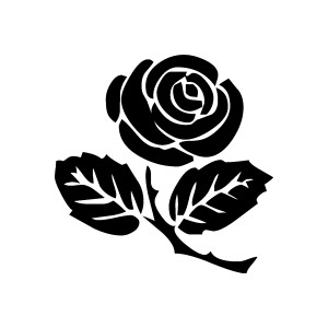 Rose clipart. Free graphics, images and pictures of rosebud, vase, black,