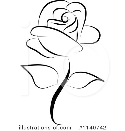 Prime Roses Clipart Black And - Roses Clipart