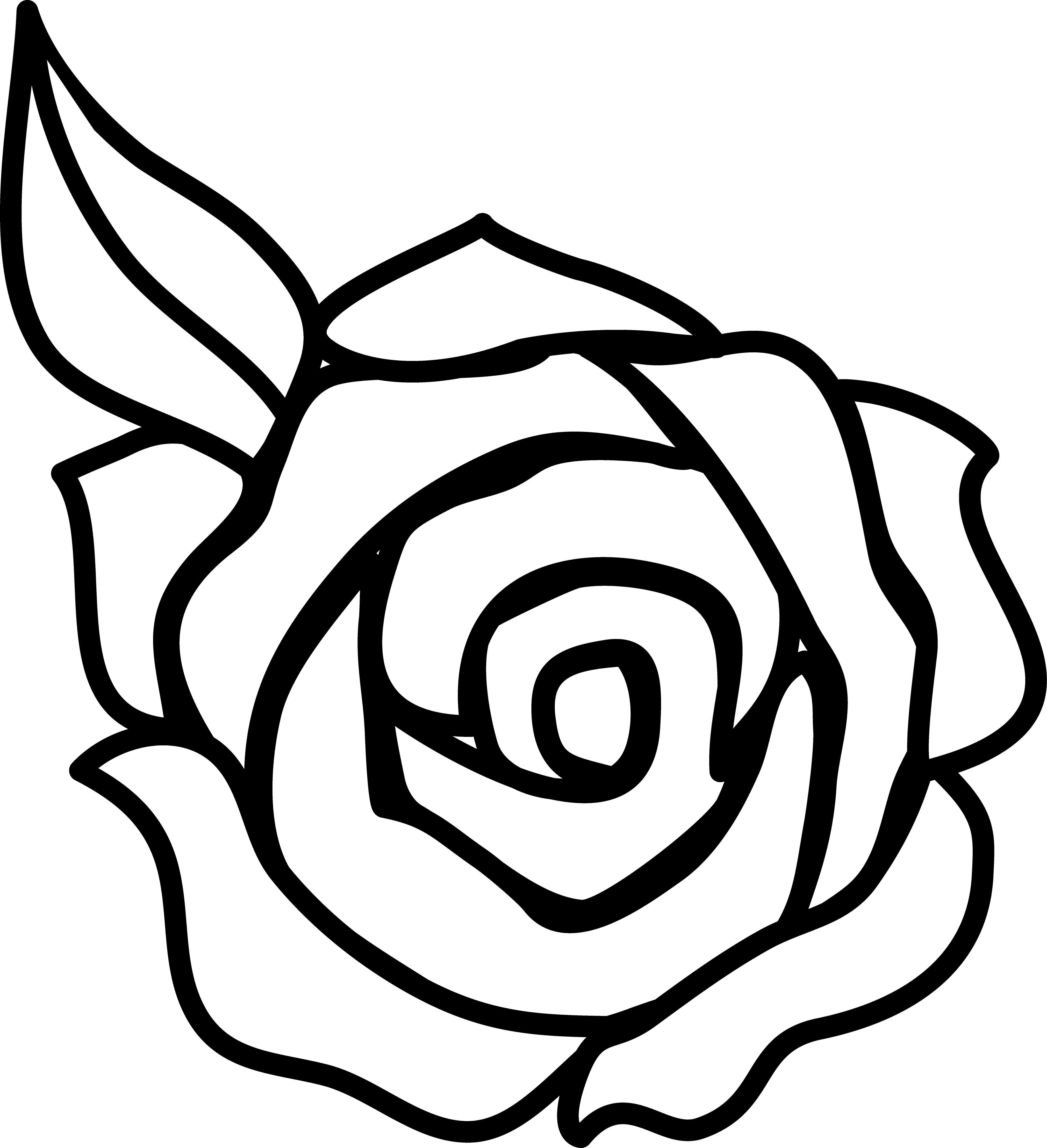 Roses rose clip art black and - Roses Clipart
