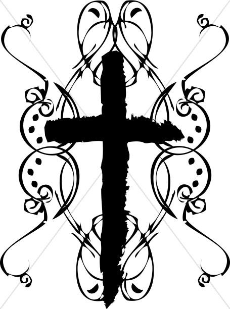 Rough Edge Cross Clipart