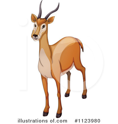 Royalty-Free (RF) Antelope Clipart Illustration #1123980 by colematt