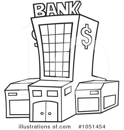Royalty Free Rf Bank Clipart Illustration By Dero Stock Sample