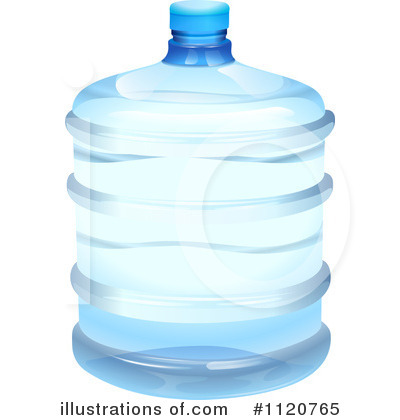 Royalty-Free (RF) Bottled Water Clipart Illustration #1120765 by colematt