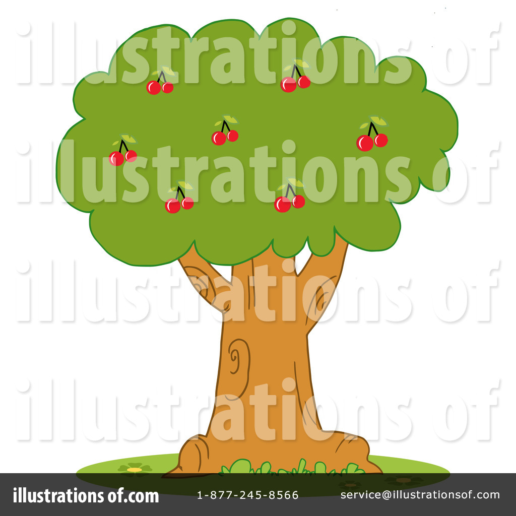 Royalty-Free (RF) Cherry Tree Clipart Illustration by Hit Toon - Stock Sample