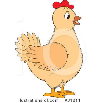 Royalty-Free (RF) Chickens Clipart Illustration #31211 by Alex Bannykh
