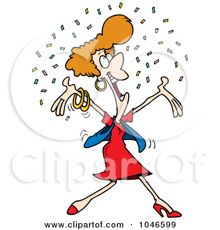 Royalty-Free (RF) Clip Art Il - Happy Woman Clipart