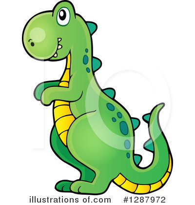 Royalty-Free (RF) Dinosaur Clipart Illustration #1287972 by visekart
