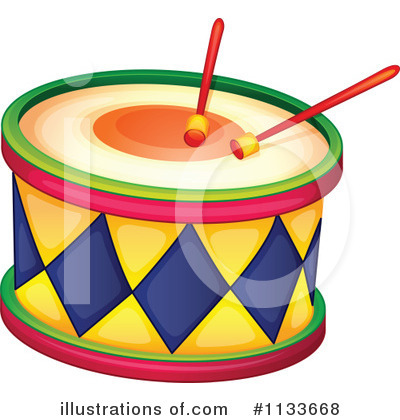 Royalty-Free (RF) Drums Clipart Illustration #1133668 by colematt