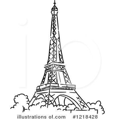 Royalty-Free (RF) Eiffel Tower Clipart Illustration #1218428 by Vector Tradition SM