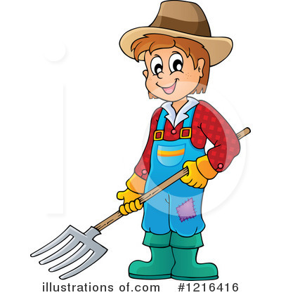 Royalty-Free (RF) Farmer Clipart Illustration #1216416 by visekart