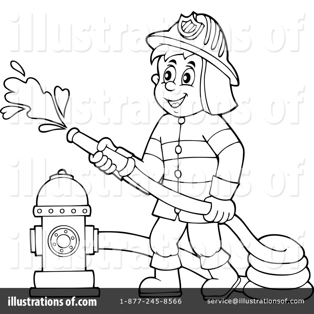 Royalty-Free (RF) Fireman Clipart Illustration #1315428 by visekart