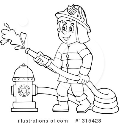 Royalty-Free (RF) Fireman .