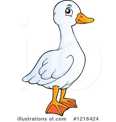 Royalty-Free (RF) Goose Clipart Illustration #1216424 by visekart