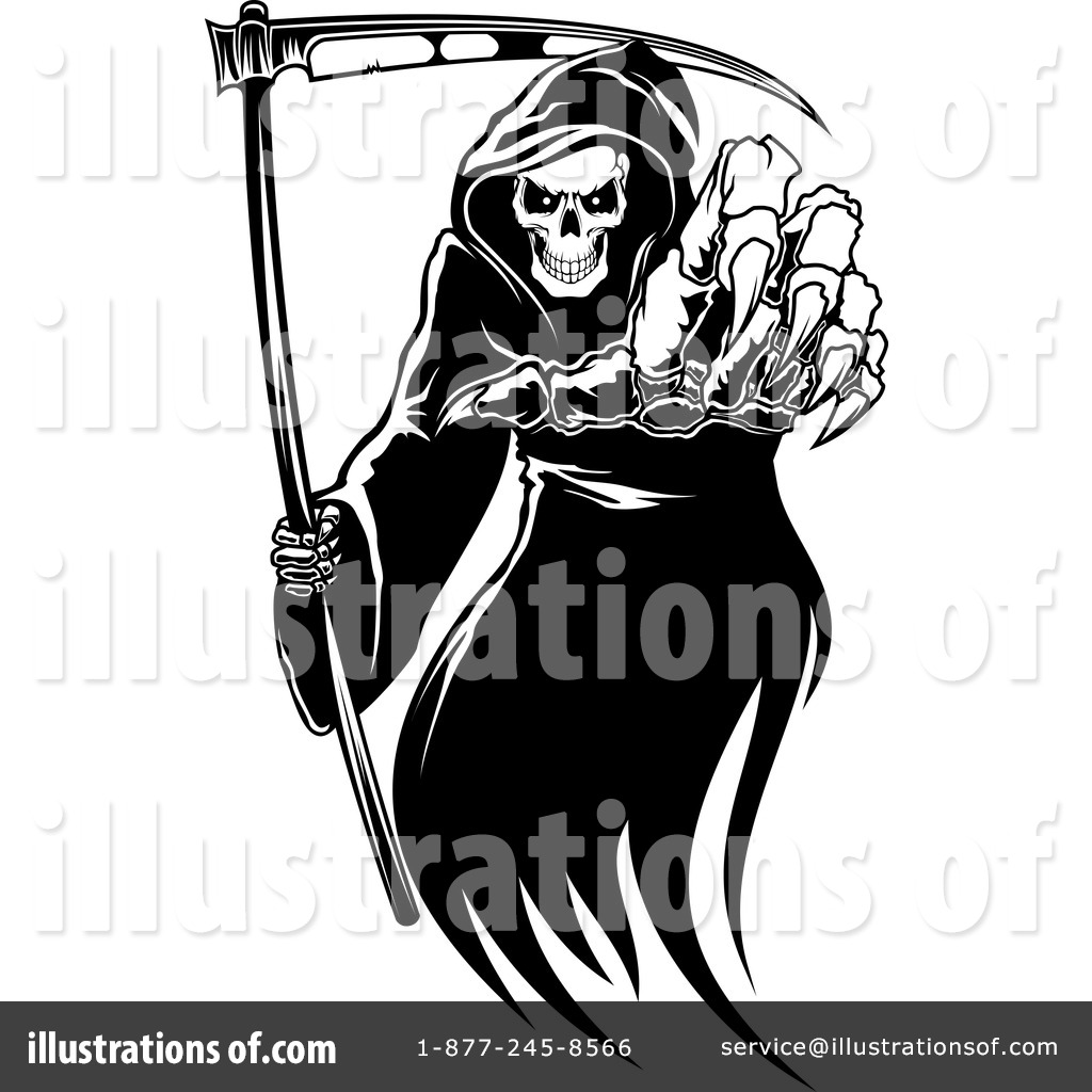 Royalty-Free (RF) Grim Reaper Clipart Illustration #1134497 by Vector Tradition SM
