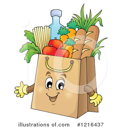 Royalty-Free (RF) Groceries Clipart Illustration #1216437 by visekart
