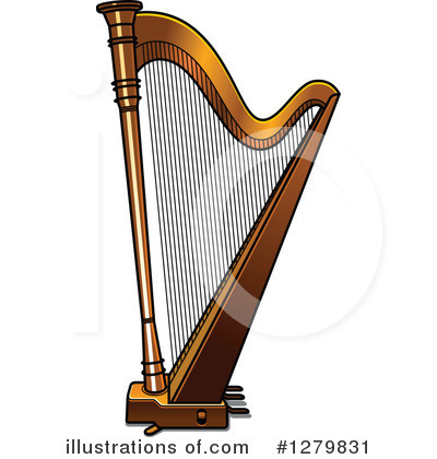 Royalty-Free (RF) Harp Clipart Illustration by Vector Tradition SM - Stock Sample